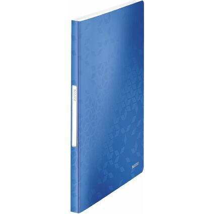 LEITZ Sichtbuch WOW, A4, PP, mit 40 Hüllen, blau-metallic