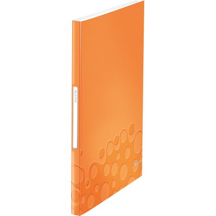 LEITZ Sichtbuch WOW, A4, PP, mit 40 Hüllen, orange-metallic