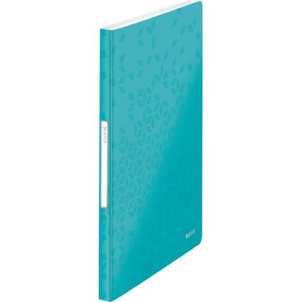 LEITZ Sichtbuch WOW, A4, PP, mit 40 Hüllen, eisblau