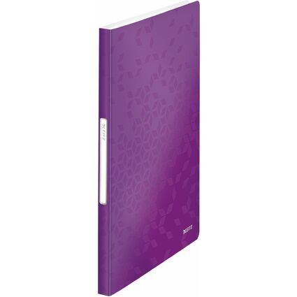 LEITZ Sichtbuch WOW, A4, PP, mit 40 Hüllen, violett