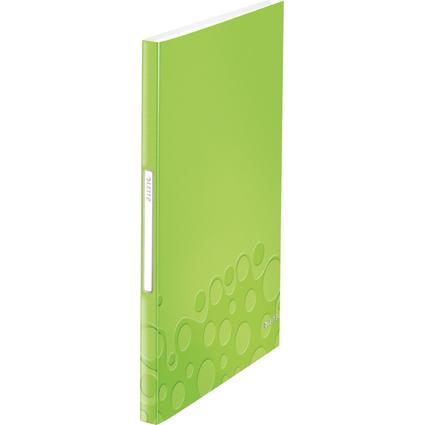 LEITZ Sichtbuch WOW, A4, PP, mit 40 Hüllen, grün