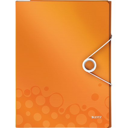 LEITZ Schreibmappe WOW, DIN A4, PP, orange-metallic