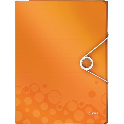 LEITZ Schreibmappe WOW, DIN A4, PP, orange-metallic