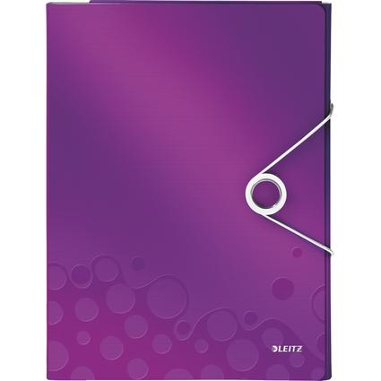 LEITZ Schreibmappe WOW, DIN A4, PP, violett