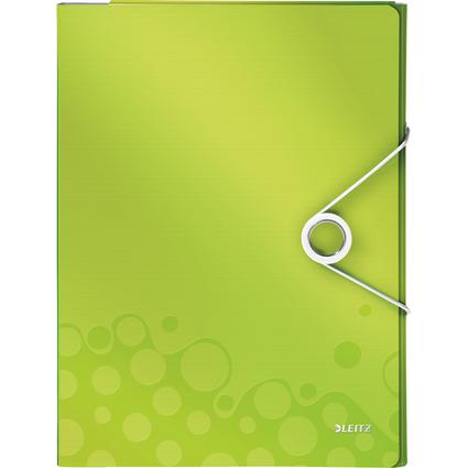 LEITZ Schreibmappe WOW, DIN A4, PP, grün-metallic