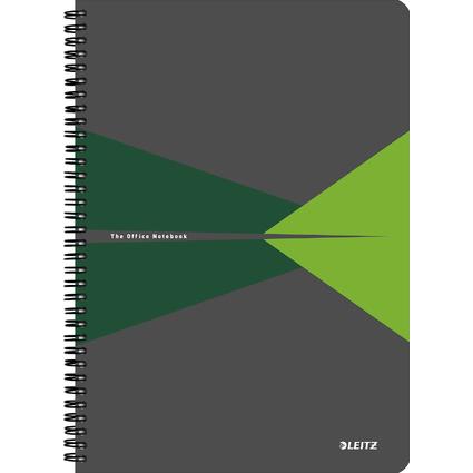 """LEITZ Collegeblock """"Office"""", DIN A4, liniert, 90 Blatt, grün"""
