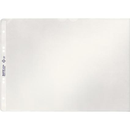 LEITZ Prospekthülle, A4 quer, PP, genarbt, 0,12 mm