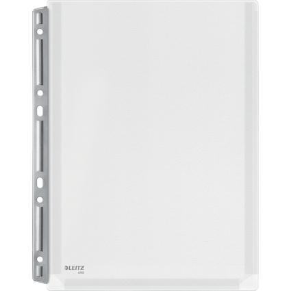 LEITZ Maxi Prospekthüllen Stabil, A4, PVC, genarbt, 0,17 mm