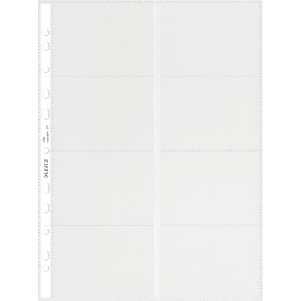 LEITZ Visitenkarten-Prospekthülle für 16 Karten, A4, PP