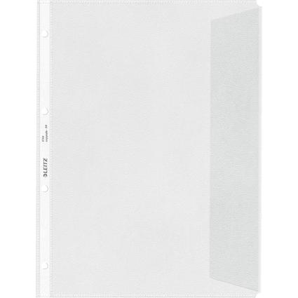 LEITZ Prospekthüllen mit Klappe, A4, PP, genarbt, 0,12 mm