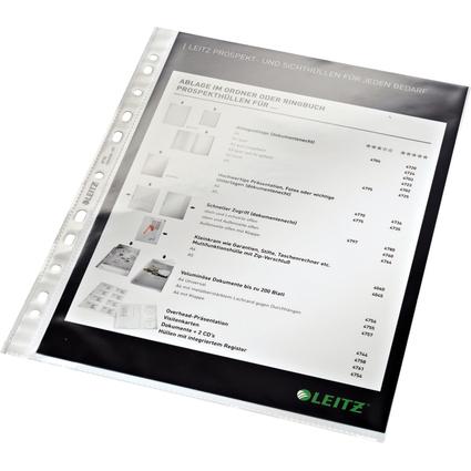 LEITZ Prospekthülle Standard, A4, PP, glasklar, 0,08 mm