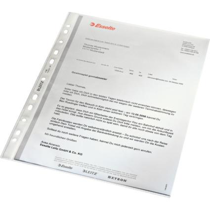 LEITZ Prospekthülle Standard, A4, PP, genarbt, 0,07 mm