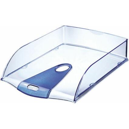 LEITZ Briefablage Allura, DIN A4, Polystyrol, kristall blau