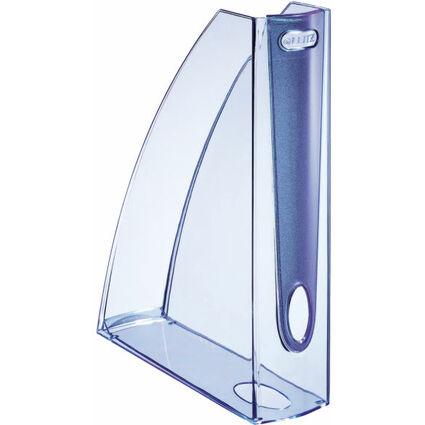 LEITZ Stehsammler Allura, DIN A4, Kunststoff, kristall blau