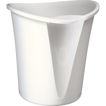 LEITZ Papierkorb Allura, aus Kunststoff, 18 Liter, weiß