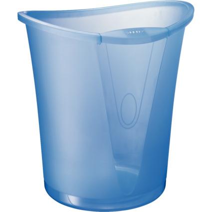 LEITZ Papierkorb Allura, aus Kunststoff, 18 Liter, kristall
