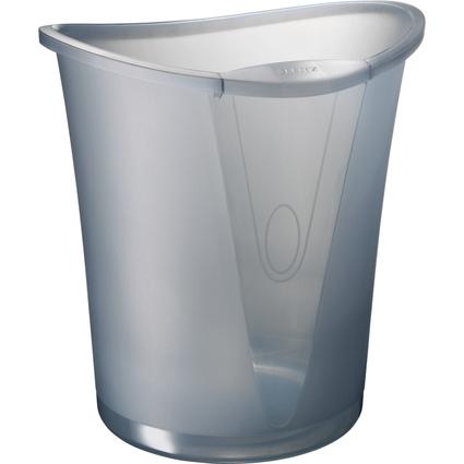 LEITZ Papierkorb Allura, aus Kunststoff, 18 Liter, quarz