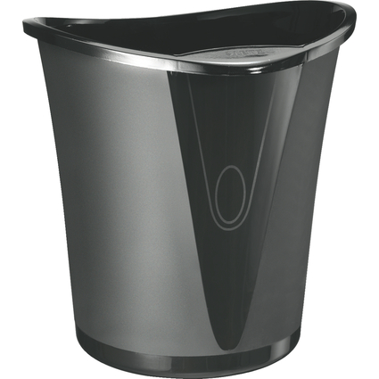 LEITZ Papierkorb Allura, aus Kunststoff, 18 Liter, schwarz