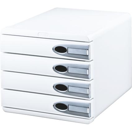LEITZ Schubladenbox Allura, 4 Schübe, weiß