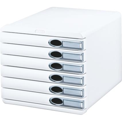LEITZ Schubladenbox Allura, 6 Schübe, weiß
