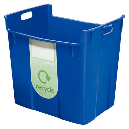 LEITZ Wertstoffsammelbehälter, 40 Liter, blau