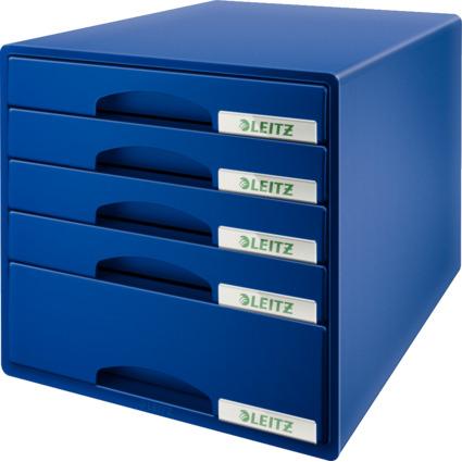 LEITZ Schubladenbox Plus, 5 Schübe, blau