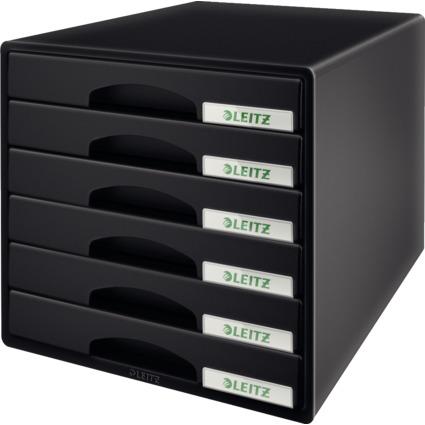 LEITZ Schubladenbox Plus, 6 Schübe, schwarz