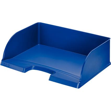 LEITZ Briefablage Plus Jumbo, DIN A4 quer, Polystyrol, blau