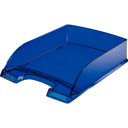 LEITZ Briefablage Plus Transparent, DIN A4, dunkelblau-