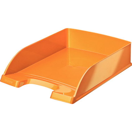 LEITZ Briefablage Plus WOW, A4, Polystyrol, orange-metallic