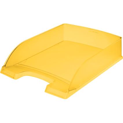 LEITZ Briefablage Plus Standard, A4, Polystyrol, gelb frost