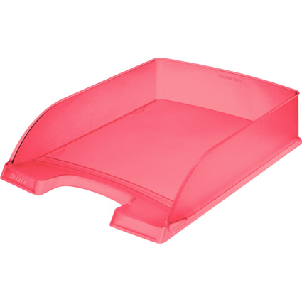 LEITZ Briefablage Plus Standard, A4, Polystyrol, rot frost