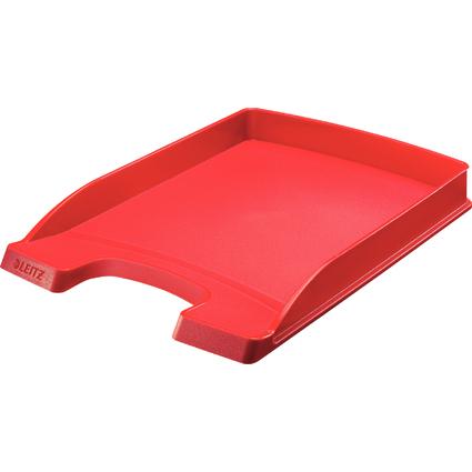 LEITZ Briefablage Plus Flach, DIN A4, Polystyrol, rot