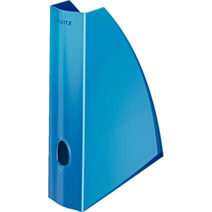 LEITZ Stehsammler WOW, DIN A4, Kunststoff, blau-metallic