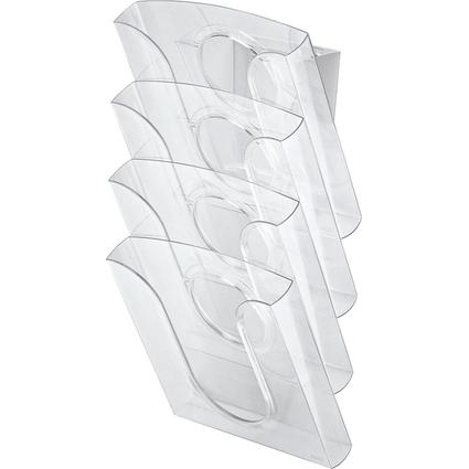 LEITZ Tisch-/Wandprospekthalter, Polystyrol, DIN A4,glasklar