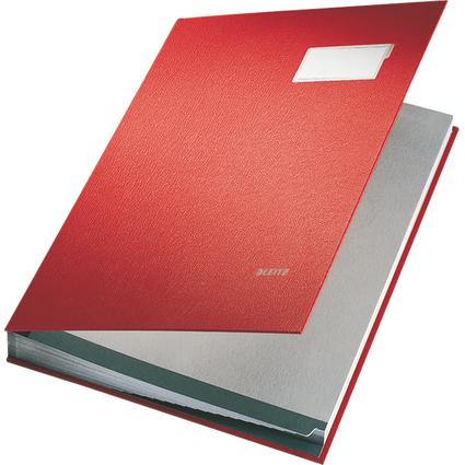 LEITZ Unterschriftenmappe, PP-Überzug, 20 Fächer, rot