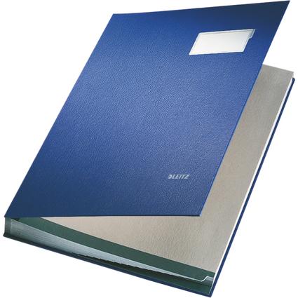 LEITZ Unterschriftenmappe, PP-Überzug, 20 Fächer, blau