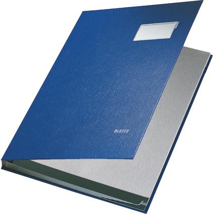 LEITZ Unterschriftenmappe, PP-Überzug, 10 Fächer, blau