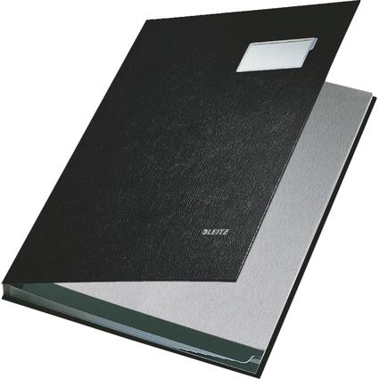 LEITZ Unterschriftenmappe, PP-Überzug, 10 Fächer, schwarz