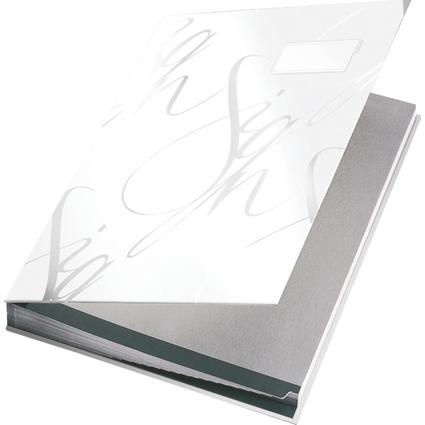LEITZ Unterschriftenmappe Design, 18 Fächer, weiß