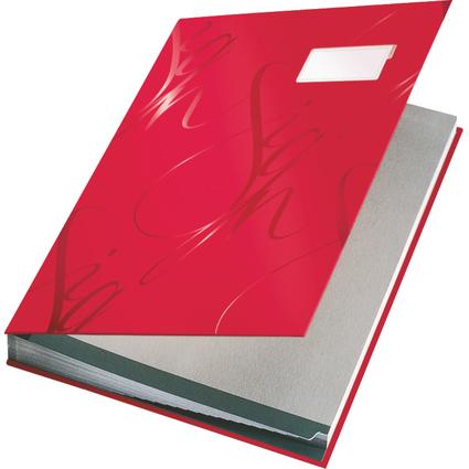 LEITZ Unterschriftenmappe Design, 18 Fächer, rot