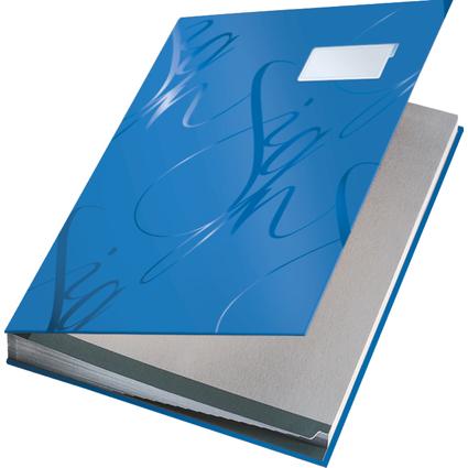 LEITZ Unterschriftenmappe Design, 18 Fächer, blau