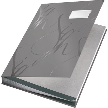 LEITZ Unterschriftenmappe Design, 18 Fächer, grau