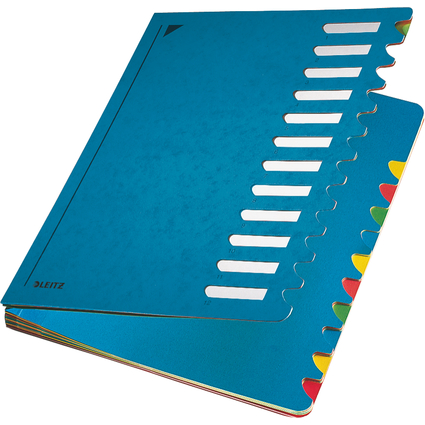 LEITZ Pultordner Deskorganizer Color, A4, 1-12, blau
