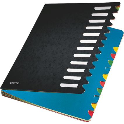 LEITZ Pultordner Deskorganizer Color, A4, 1-12, schwarz