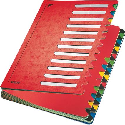 LEITZ Pultordner Deskorganizer Color, A4, 1-24/A-Z, rot