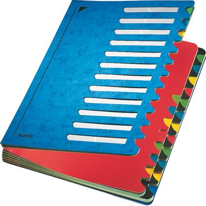 LEITZ Pultordner Deskorganizer Color, A4, 1-24/A-Z, blau