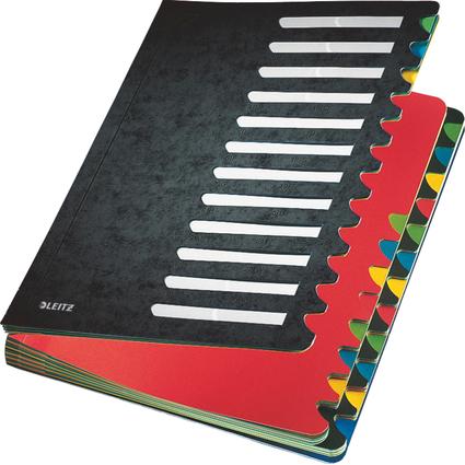 LEITZ Pultordner Deskorganizer Color, A4, 1-24/A-Z, schwarz