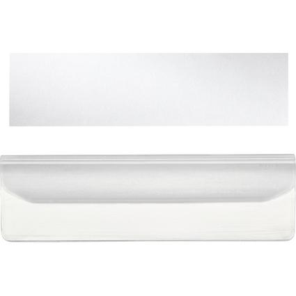 LEITZ Vollsichtreiter, Kunststoff, (B)55 mm, transparent