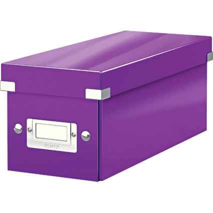LEITZ CD-Ablagebox Click & Store WOW, violett